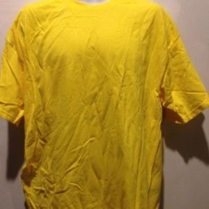 Lot of 5 Yellow Solid T-Shirt Men's XL Size